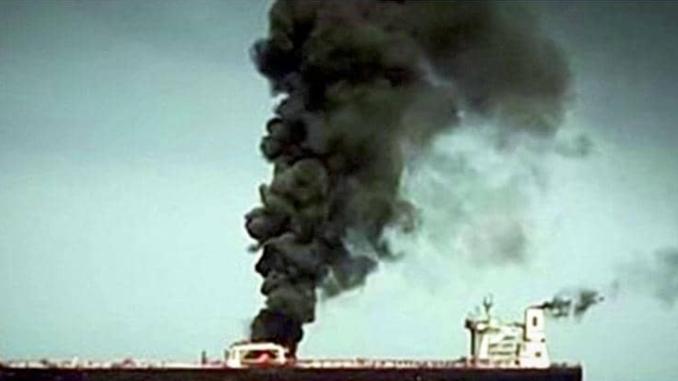 هجومين استهدفا في 13 حزيران/ يونيو 2019 ناقلتي نفط في بحر عمان