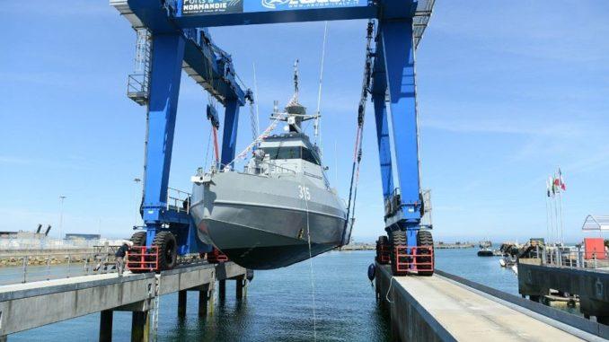 تدشين زورق سريع لصالح القوات البحرية السعودية في فرنسا في 24 تموز/ يوليو 2019