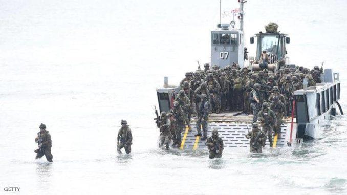 مشاة البحرية الأميركية في لقطة أرشيفية