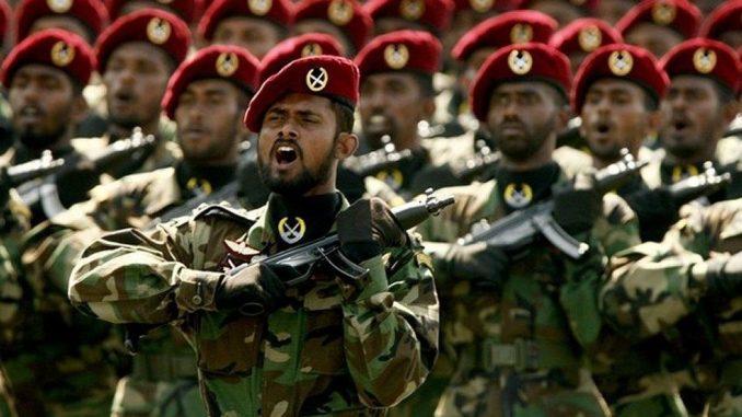 عناصر من القوات المسلحة السريلنكية