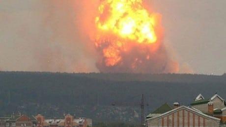 إنفجار قاعدة عسكرية