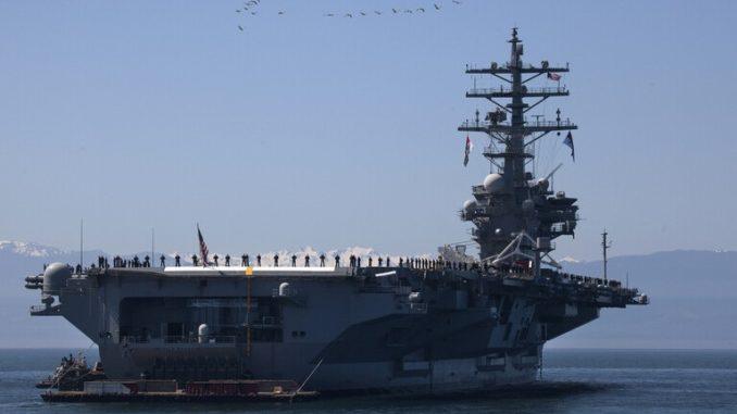 """حاملة الطائرات الأميركية """" يو إس إس رونالد ريغان"""""""