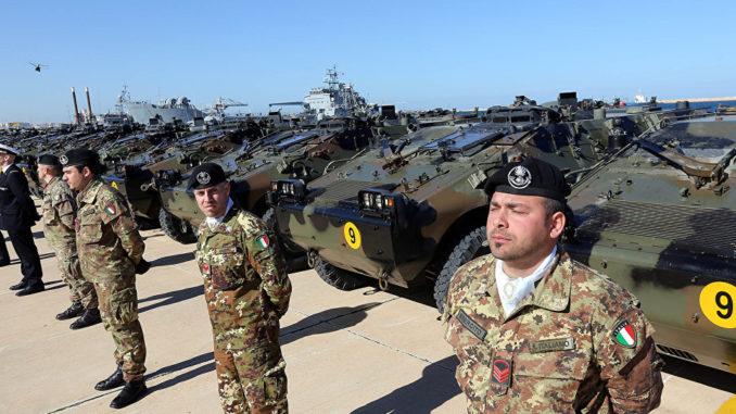 عناصر من القوات المسلحة الإيطالية