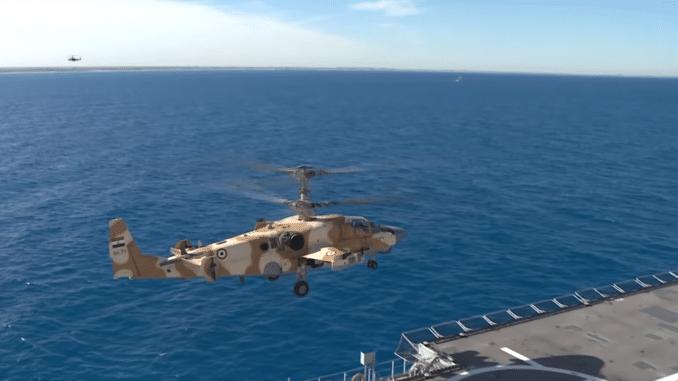 """مروحية """"كا-52"""" الروسية في تمرين للجيش المصري"""