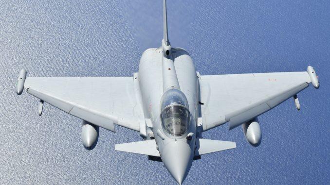 مقاتلة يوروفايتر تايفون التابعة لسلاح الجو الإيطالي