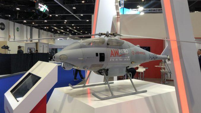 طائرة AW HERO من إنتاج شركة ليوناردو خلال عرضها في UMEX 2020