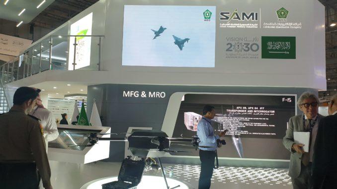 منصة عرض الشركة السعودية للصناعات العسكرية في معرض دبي للطيران 2019