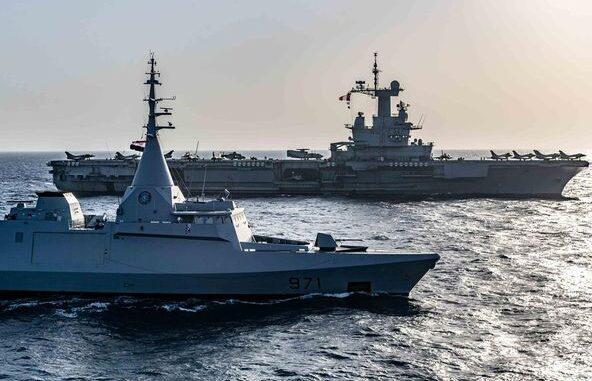 تدريبات بحرية بين فرنسا ومصر