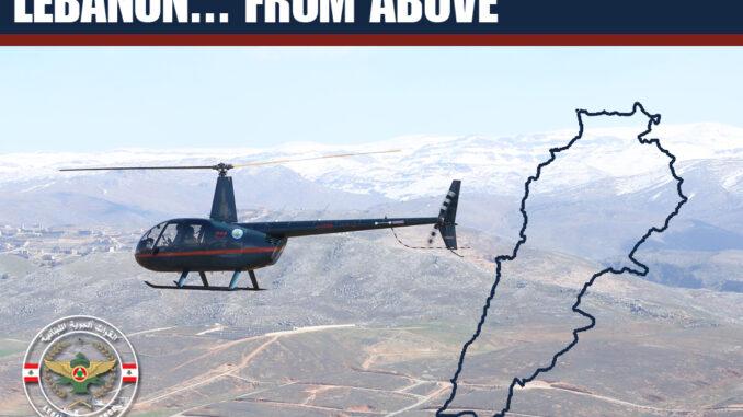 مروحية R44 تابعة لسلاح الجو اللبناني ضمن مبادرة لبنان من فوق