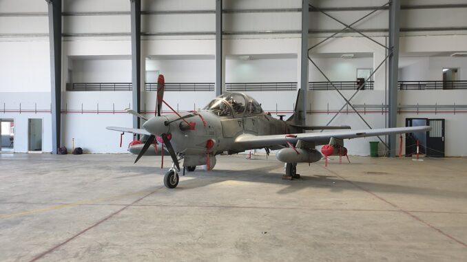 طائرة سوبر توكانو A-29 تابعة للقوات الجوية اللبنانية