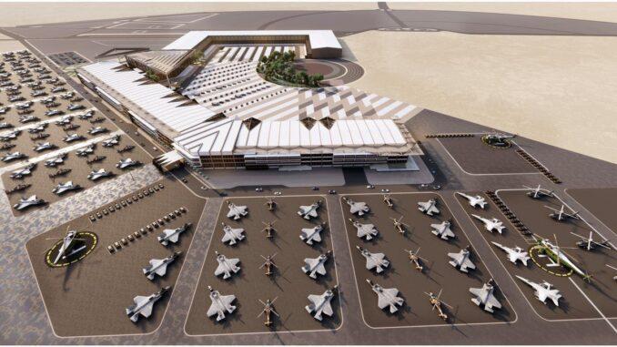 صورة لمعرض الدفاع العالمي وهو اول معرض دفاعي في المملكة العربية السعودية سيقام بين 6 و 9 آذار/ مارس 2021